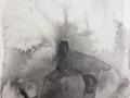 Stillleben, 14x19, 2016, Tusche und Wein auf Papier