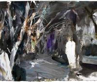 002, fassungslos, 2016, 40.5 x 56 cm, +ûl auf Papier