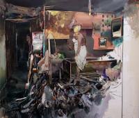 Paranoid, 2017, Öl auf Leinwand, 220 x 250 cm