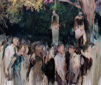 under the trees, 2017, 180 x 200 cm, Öl auf Leinwand