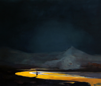 Das Zurückgelassene, 2018, Öl und Tusche auf Leinwand, 130 x 175 cm