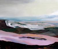 Loch, 2018, Acryl und Öl auf Leinwand, 140 x 185 cm